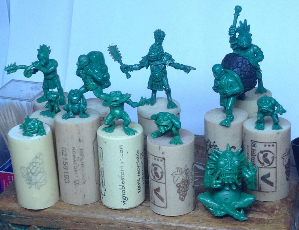 Goblins created using Sylmasta Green Stuff