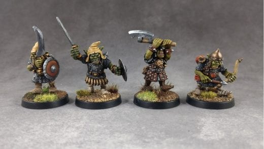 Fantasy miniature goblins created by the Goblin Master Kevin Adams using Sylmasta Green Stuff