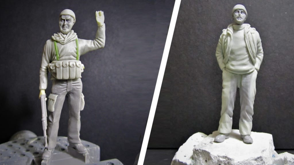 Paul Wade has turned real life snipers from the fight against ISIS into modelling figures using Sylmasta Magic Sculp