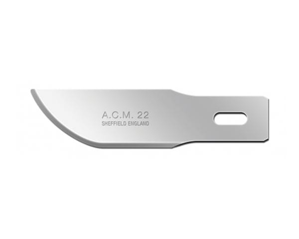 Swann-Morton ACM No.22 is a carving blade for medium and heavy duty materials