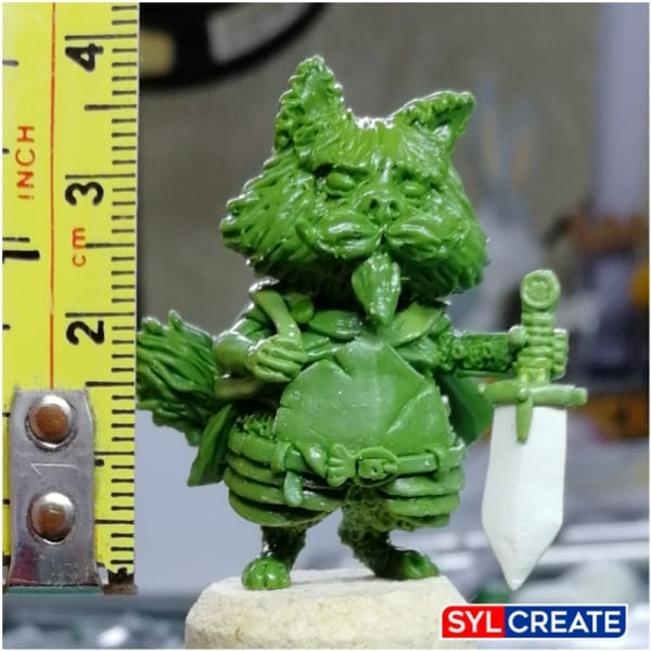Cats of Crumpton figure made from Green Stuff by Northumbrian Tin Soldier