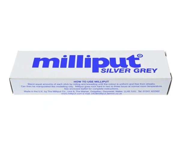 Milliput Silver Grey is an epoxy putty used in applications which don't require significant amounts of detail such as garden ornaments and taxidermy