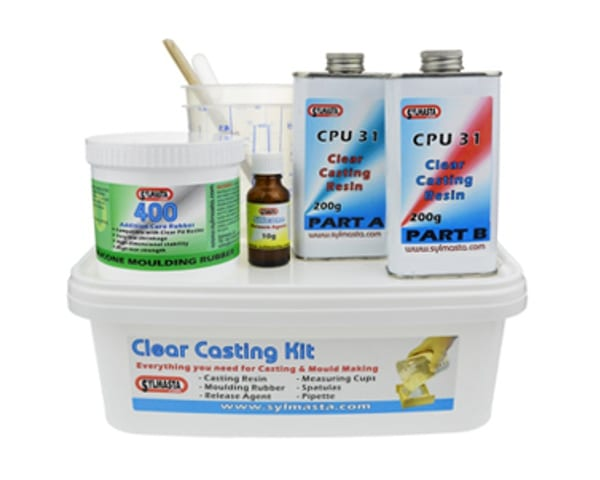 The Sylmasta Clear Casting Kit allows for resin casting in ultra clear polyurethane