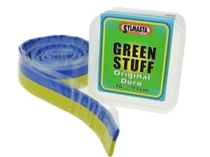 Sylmasta Duro Green Stuff Reel is an epoxy putty strip used for detailed model making and carving