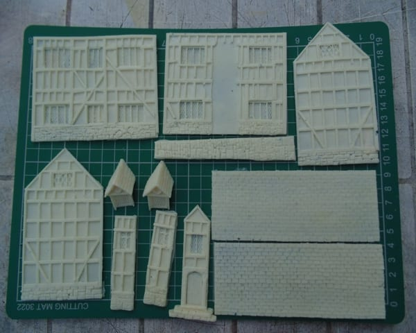 A Tudor Building kit made using Sylmasta Casting Resin and Silicone Moulding Rubber
