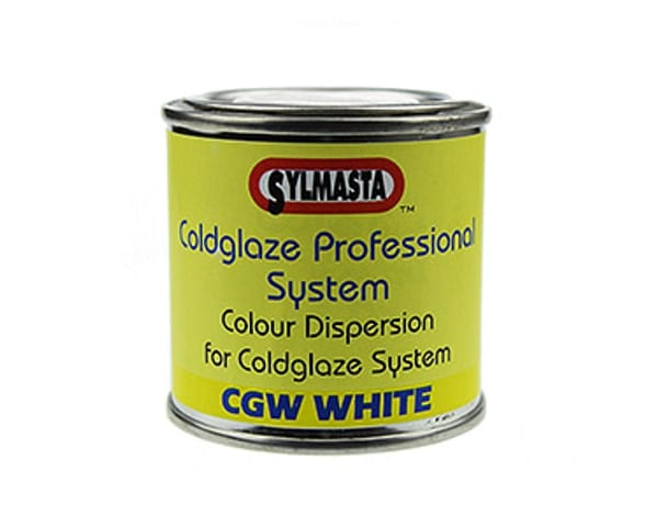 CGW White Paste is a colour dispersion system used to cure Sylmasta glazes to white rather than clear