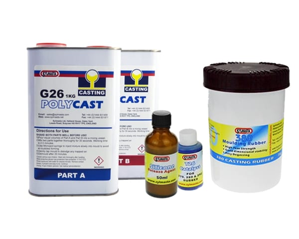 The Sylmasta Casting Kit XL contains more of the products needed to start creating high-quality casts through the process of resin casting