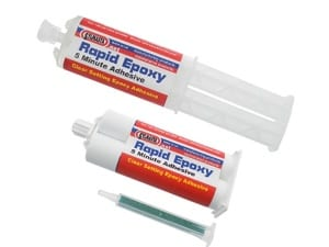 Sylmasta Rapid 5 Minute Epoxy is a fast setting adhesive with a curing time of between 5 and 10 minutes which offer excellent adhesion to most materials