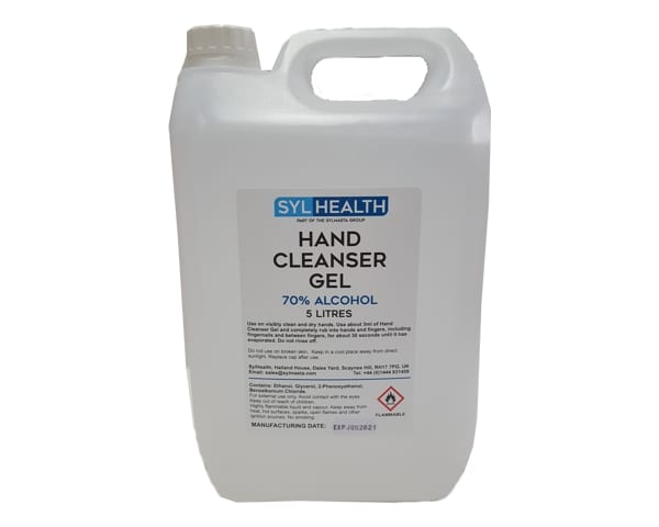 SylHealth Hand Sanitiser Gel is made from 70% alcohol and kills 99% of germs, viruses and bacteria