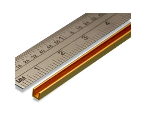 This high-quality Brass C Channel is the ideal metal profile for use in model making tasks