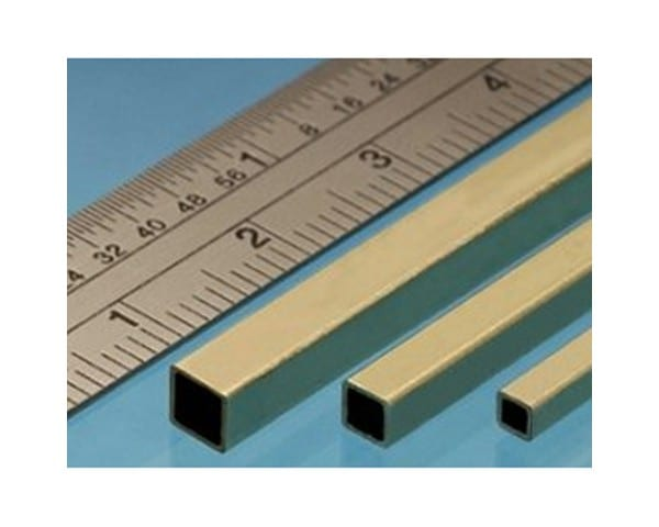 The Brass Square Tube is a high-quality square-shaped metal profile used in model making and restoration
