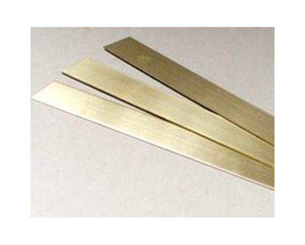 Brass Strips come in a variety of different widths and thicknesses and can be used in model making and restoration tasks