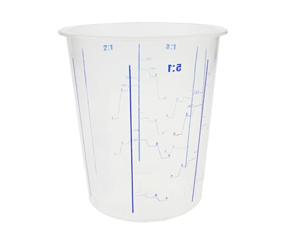 The SuperCup Mixing Cup comes with marked mixing ratios to enable easy measuring of casting resins and epoxy adhesives