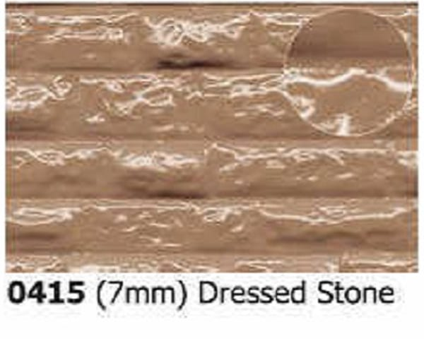 Slater's Plastikard 0415 is plasticard featuring Dressed Stone Pattern for 7mm scale