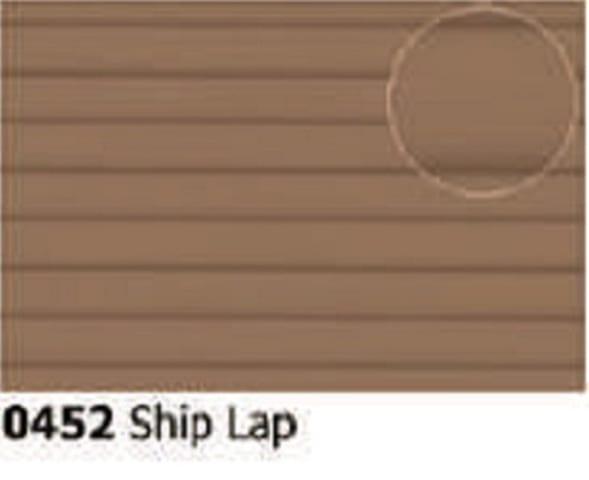 Slater's Plastikard 0452 is plasticard featuring Ship Lap Grey pattern