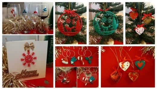 Casting resins and epoxy modelling putty can be used to make handmade Christms gifts and decorations