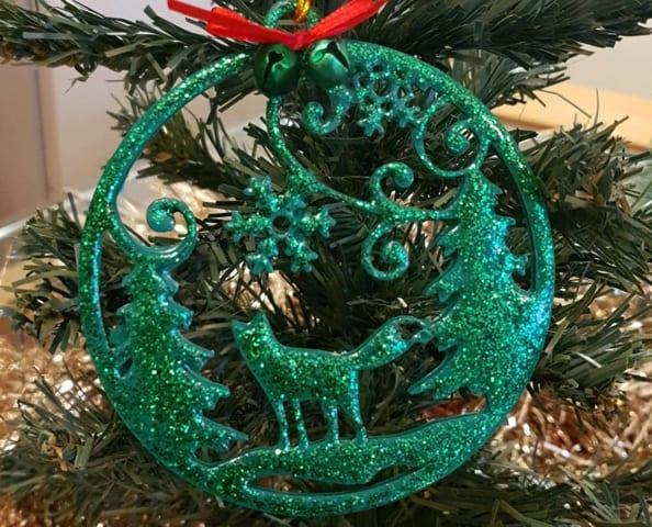 A Christmas decoration handmade using G26 Green Casting Resin