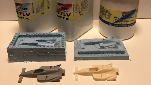 Resin casting is one of the craft, hobby and model making activities which you could take up during lockdown