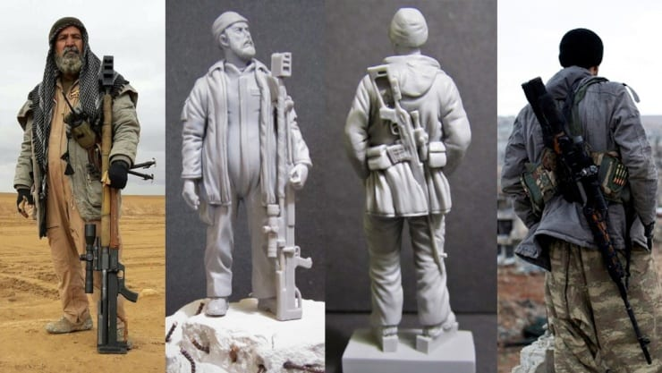 Legendary snipers who fought against ISIS in the Iraq-ISIL War have been sculpted in Magic Sculp by Red Zebra