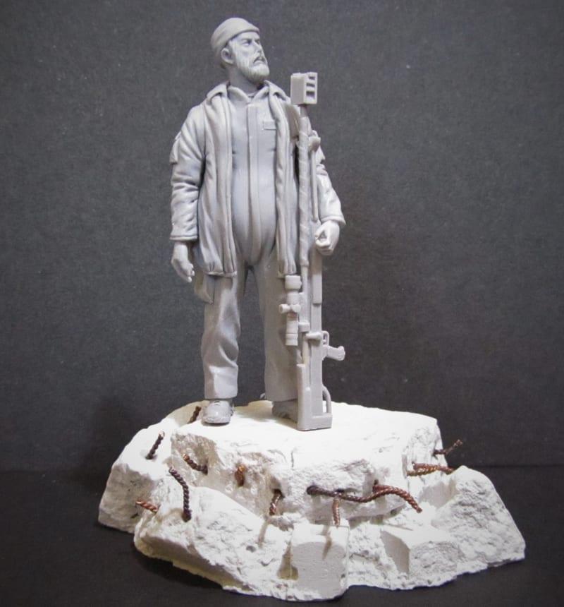 Legendary sniper Abu Tashin al-Salhi sculpted in Magic Sculp