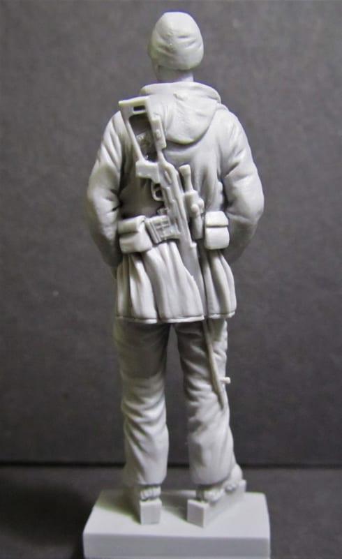 Legendary sniper Masu Herdem carved in Magic Sculp by Red Zebra Models