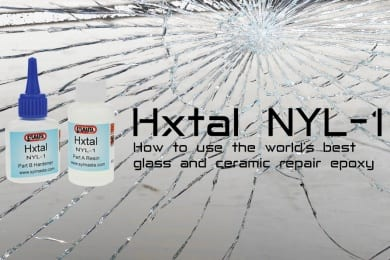 Hxtal NYL-1 is one of the world's best glass and ceramic epoxy repair and restoration products
