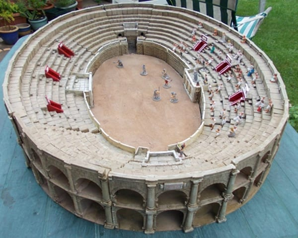 A Roman amphitheartre which was cast from resin and took two years to complete