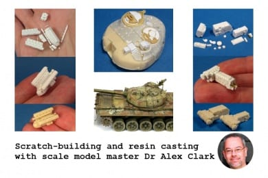 Alex Clark is one of the best 1/72 scale model makers around thanks to his talent for scratch-building parts from Magic Sculp and using casting resin to produce high-quality reproductions
