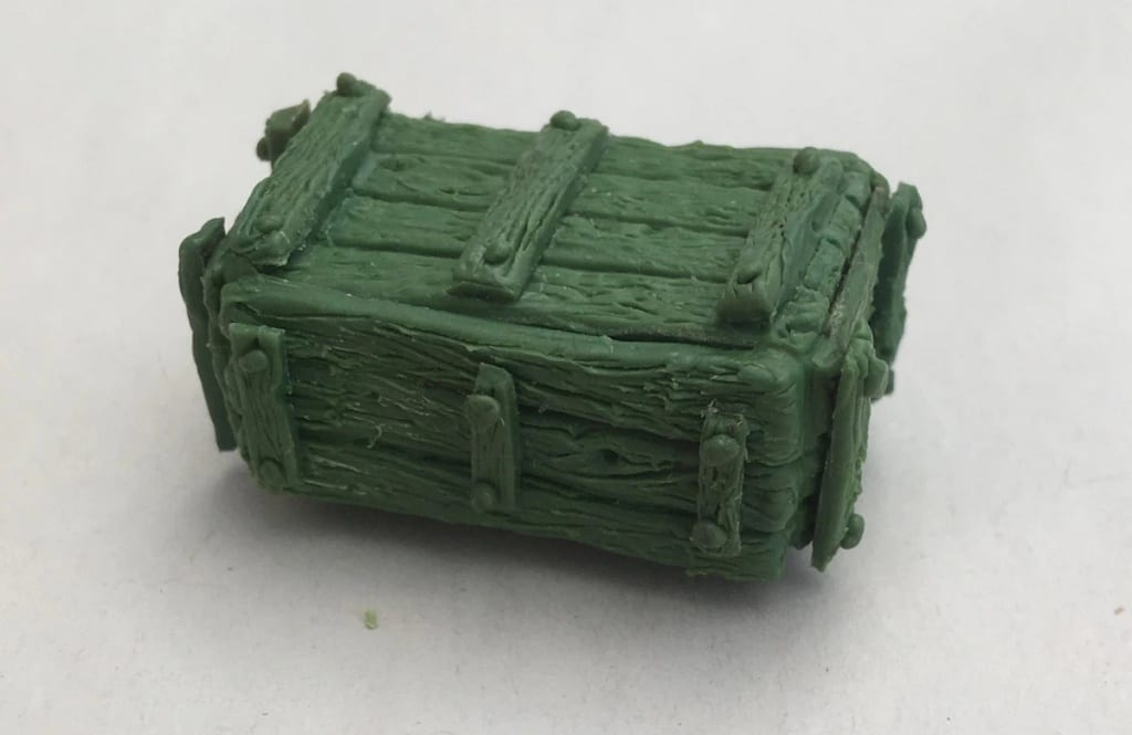 A chest made using Green Stuff Epoxy Modelling Putty
