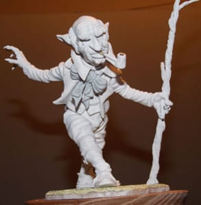 A highly detailed gnome created using Geomfix A+B Original Epoxy Modelling Putty
