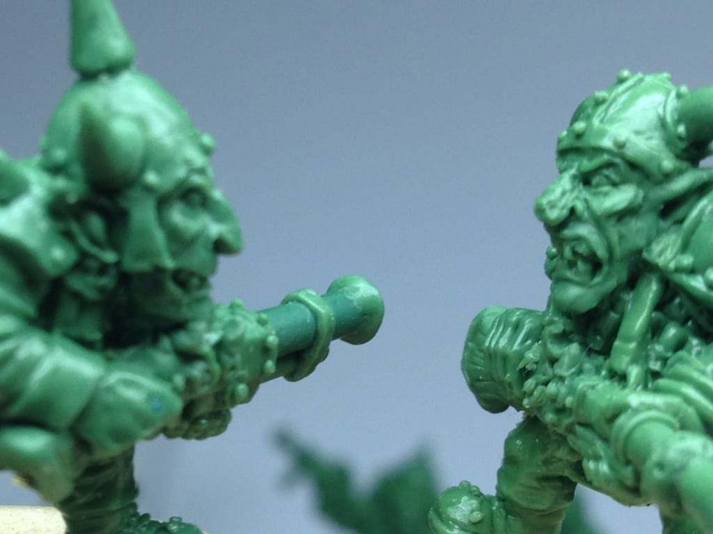 Goblins made using Green Stuff Epoxy Modelling Putty
