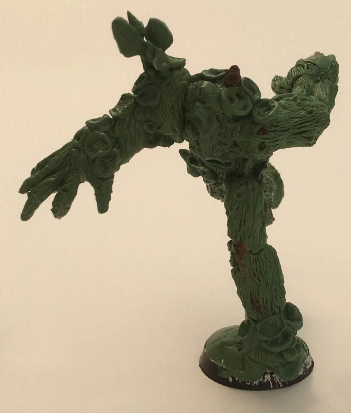 A mangled tree made using Green Stuff epoxy modelling putty