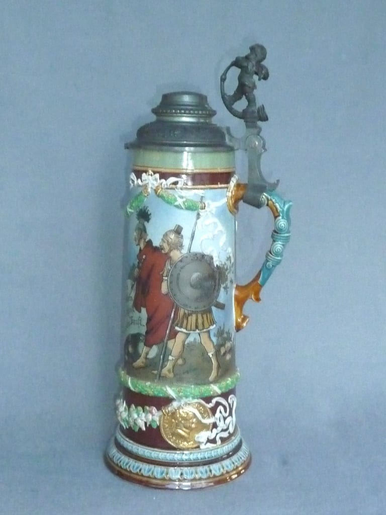A beer glass made from German pottery undergoes a repair finished off with Coldglaze PRO 2 gloss