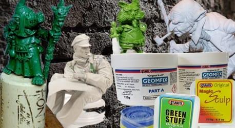 Model making materials from Sylmasta include Green Stuff, Magic Sculp and Geomfix Original