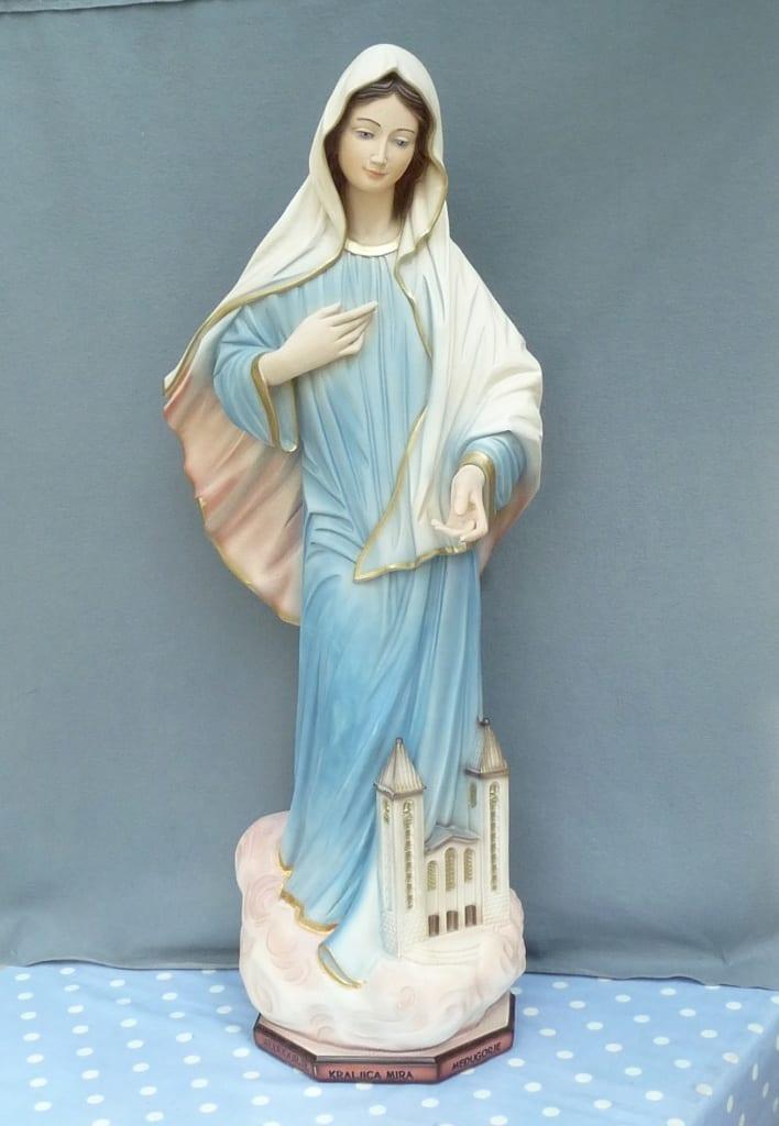 A religiouse piece restored using Sylmasta Coldglaze PRO 2 glaze for ceramic, china and pottery repair and restoration